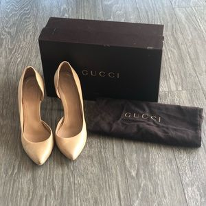 Gucci Nude Pumps with Box and bag size 37.5